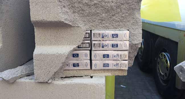 Blitz GdF: sequestrate 10mila kg di sigarette nascoste in blocchi di cemento